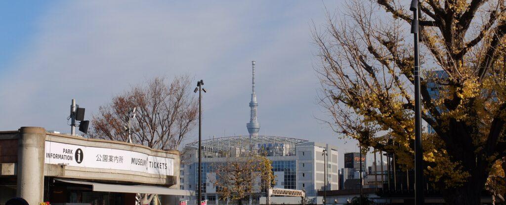上野公園出口付近