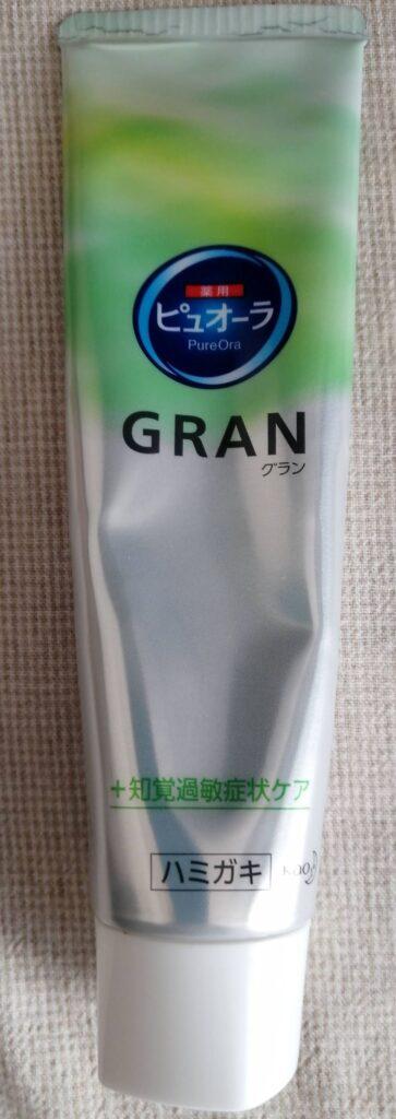 ピュオーラGRAN(グラン) 知覚過敏症状ケア(薬用ハミガキ) 中身単体 表面